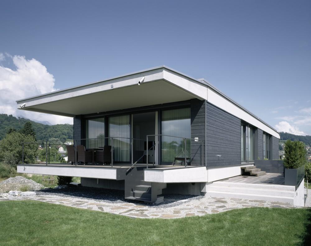 Neubau Einfamilienhaus in Sichtbeton, Mauren 2013
