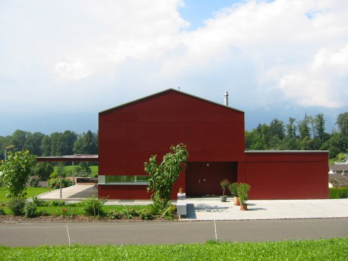 Neubau Einfamilienhaus Holzelementbau, Schellenberg 2005