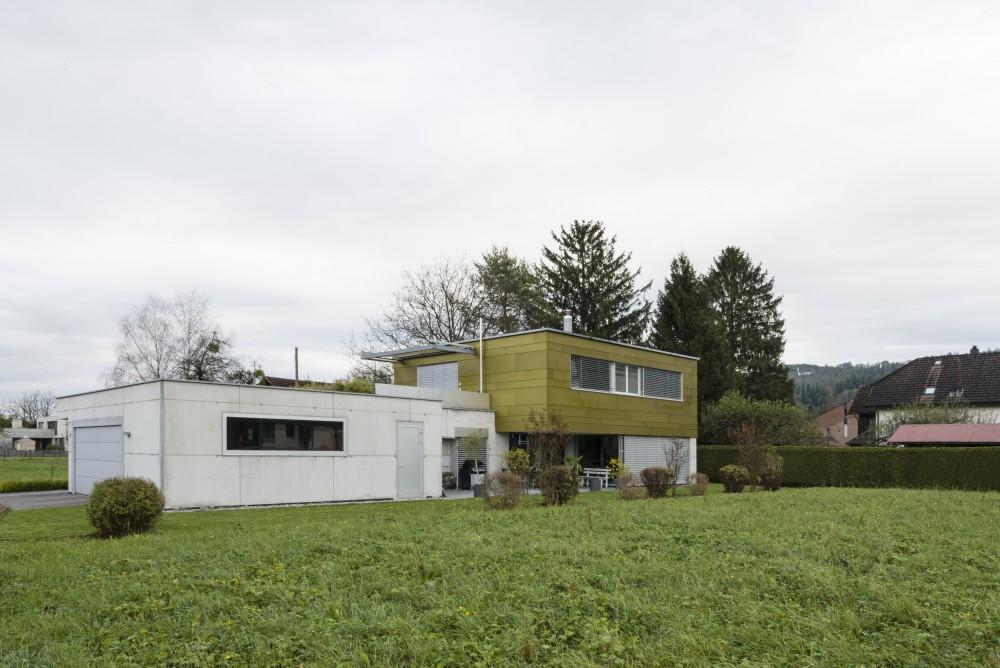 Neubau Einfamilienhaus Sichtbeton Metallfassade, Ruggell 2008