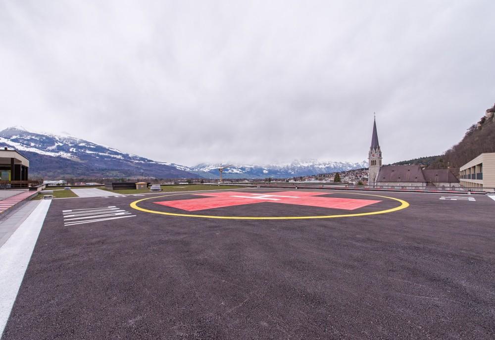 Landesspital Sanierung Heli Landeplatz, Vaduz 2016