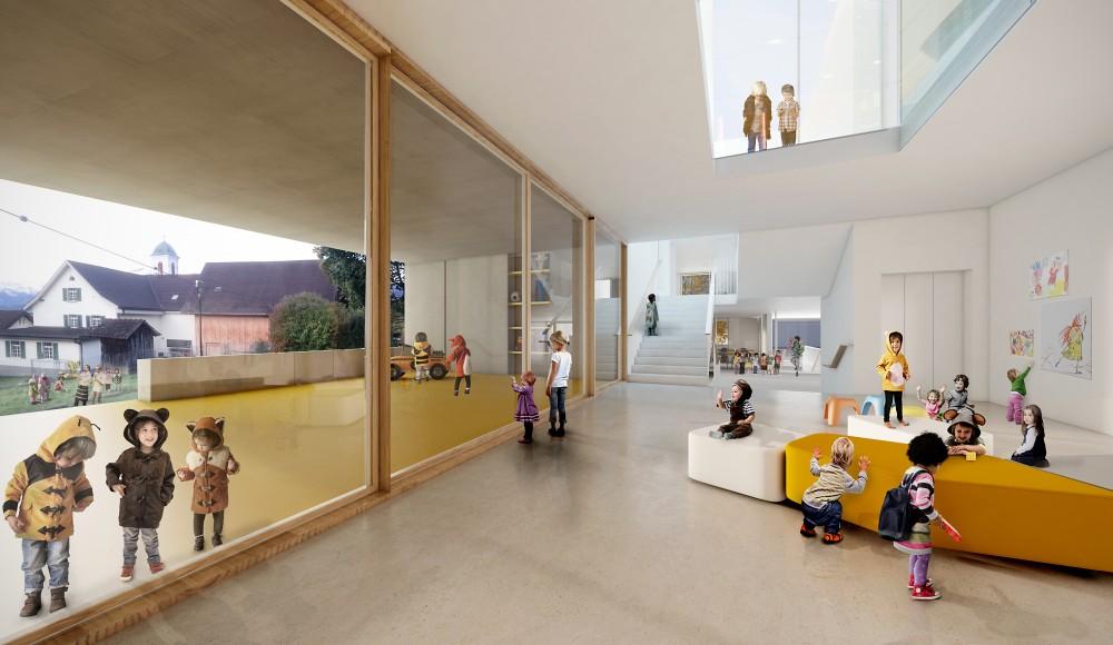 WB Neubau Doppelturnhalle und Kindergarten Mauren, 2017